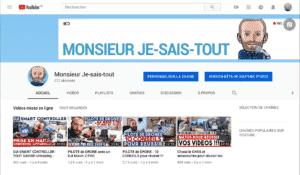 Chaine YouTube Monsieur Je-sais-tout