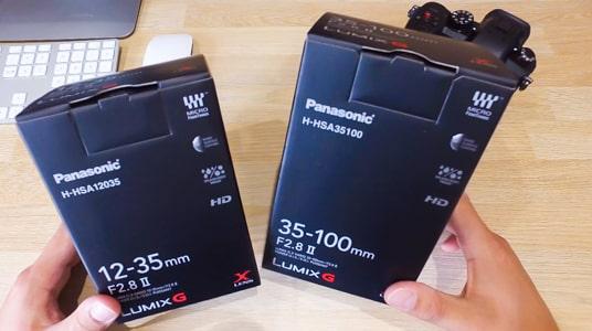 PANASONIC 12-35mm et 35-100mm F2.8